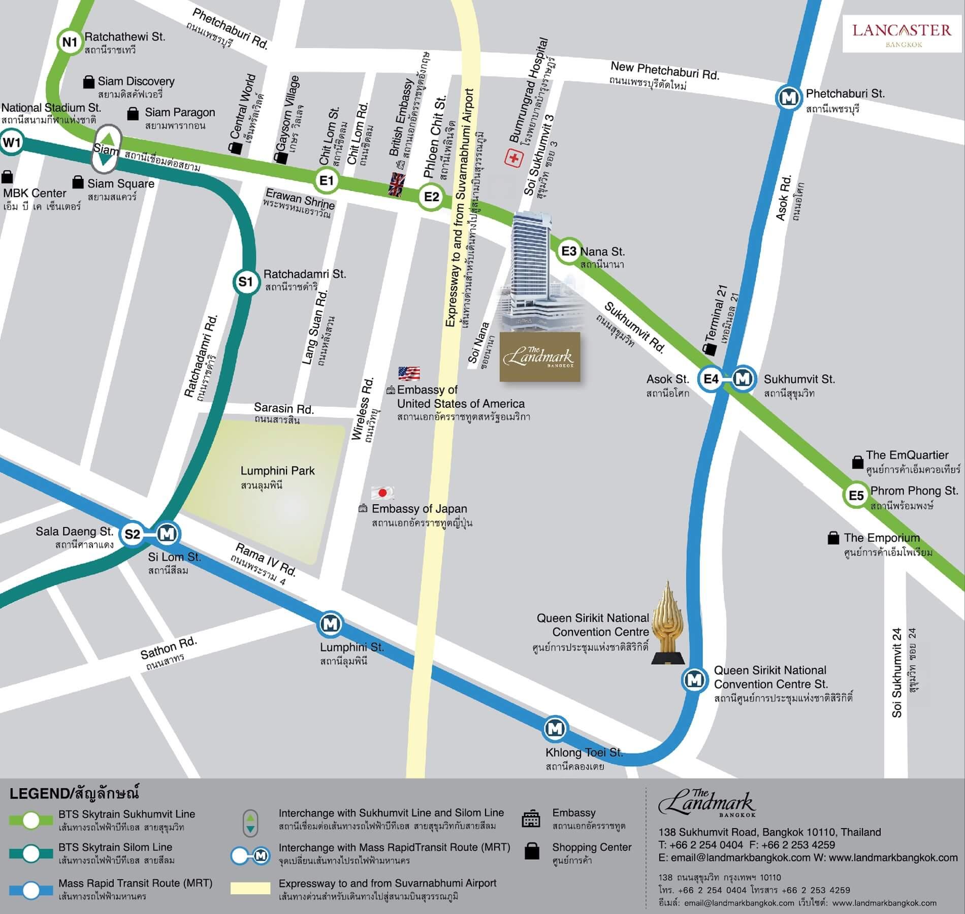 Contact Us - The Landmark Bangkok Sukhumvit