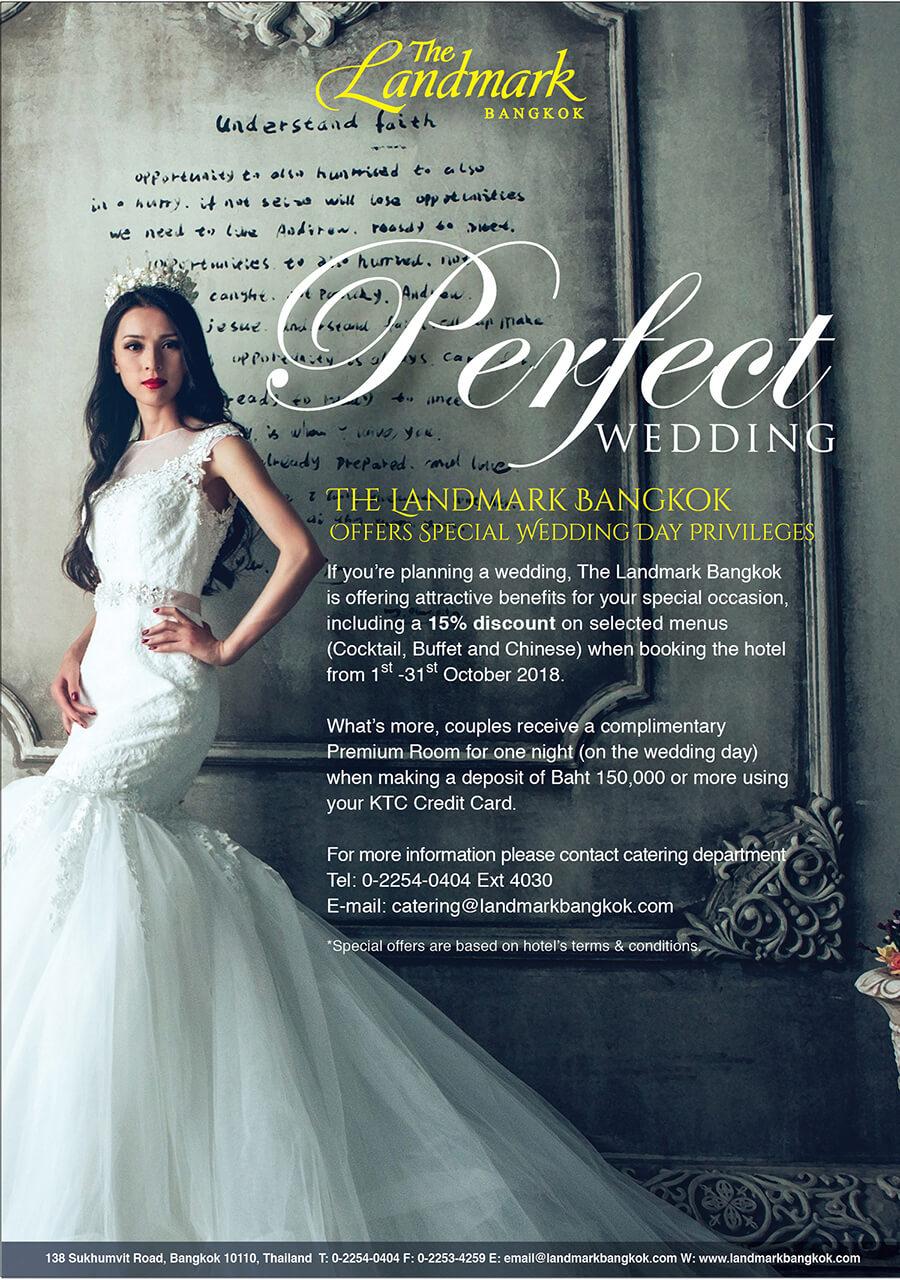 Wedding: The perfect venue for wedding - The Landmark Bangkok Sukhumvit